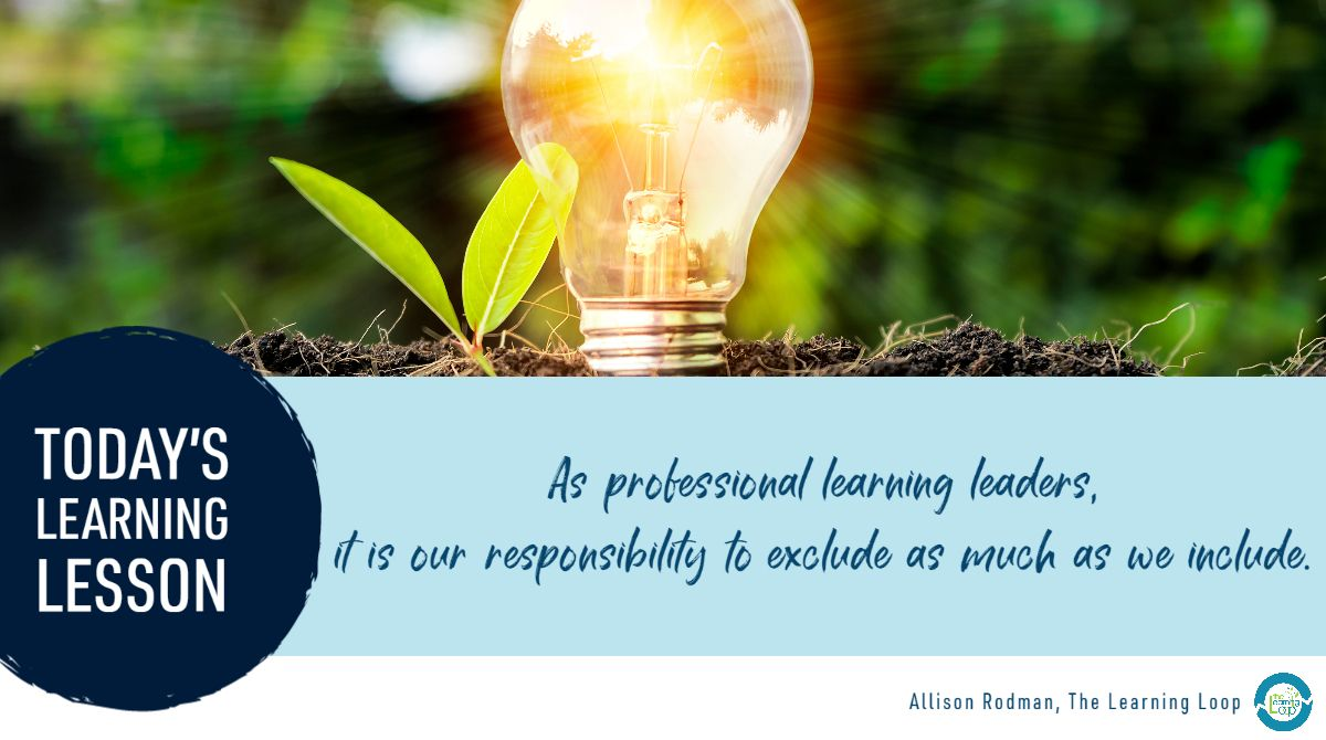 """Today's #personalizedPL #LearningLesson: How do you make distinctions between """"good"""" and """"bad"""" professional learning experiences?   What tools can you use to eliminate unrelated or needless information and instead incorporate what is fundamental to growth? https://t.co/YRWajoZslc"""