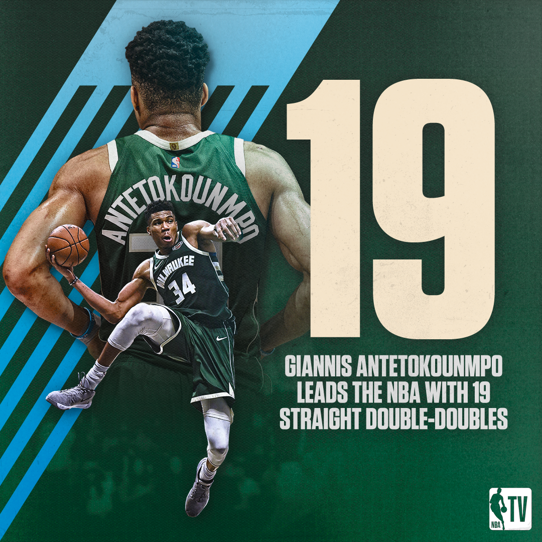 The Greek Freak has been on one this season 🔥  19 days until tip | #WholeNewGame https://t.co/mY0zwsbkp4