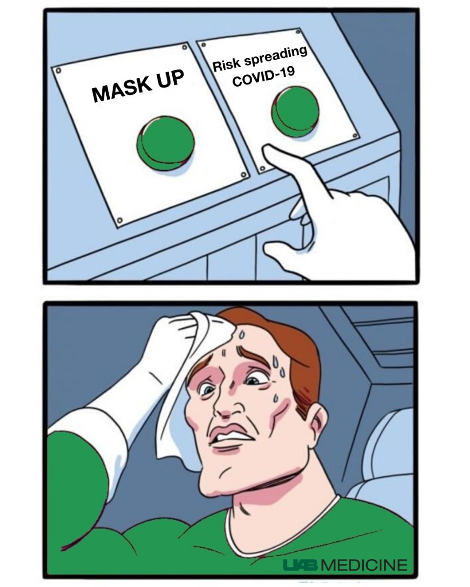 Not all heroes wear capes. #MaskUp to help protect yourself and others from COVID-19. For more information on wearing a mask, visit fal.cn/395AD.