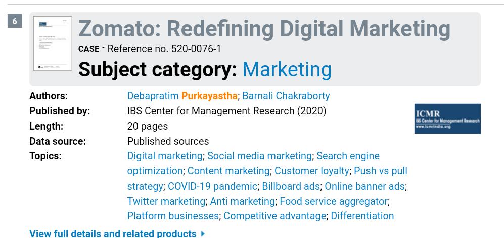 Zomato: Redefining Digital Marketing https://t.co/KJ57vEd7o1 #DigitalMarketing #socialmediamarketing #searchengineoptimization #Contentmarketing #Customerloyalty #COVID__19 #pandemic#Twittermarketing #Antimarketing #platforms #competitiveadvantage #Differentiation https://t.co/6K61TI3INl