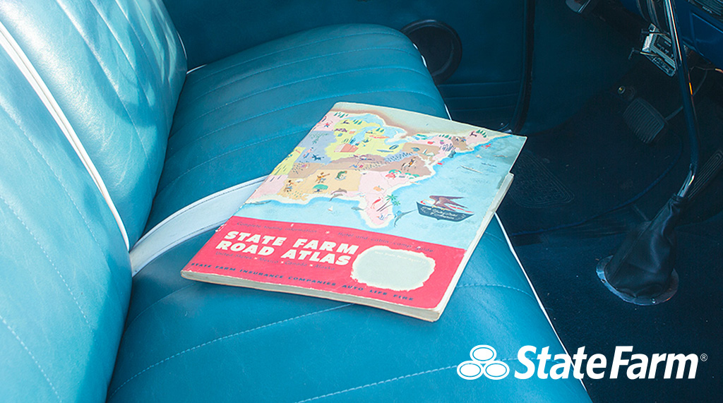 Things moved a little slower when customers used this @StateFarm atlas from 1951 — the first interstate was still five years away from being constructed! #throwback https://t.co/XkFrOQi7EA