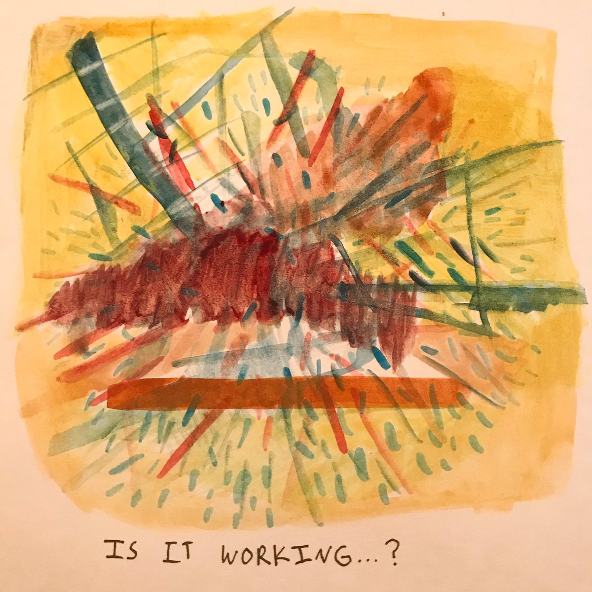 Is it... #watercolor #watercolorpainting #abstractartwork #abstractpainting #contemporaryartist #contemporarypainting #wordart #juliaguzziopic.twitter.com/6R6zRpUOJR