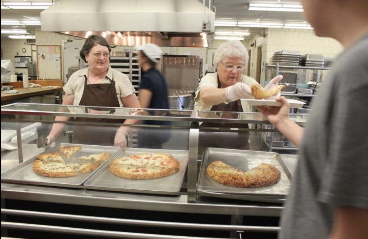 """Do you remember your cafeteria workers in school? All of mine were >65 y/o.  They all worked part-time 9 months a year. They were grandparents. Almost all were women.   I think about them a lot with school reopening. Rural America doesn't have many """"lunch ladies"""" to spare. https://t.co/3KufWE7yKC"""