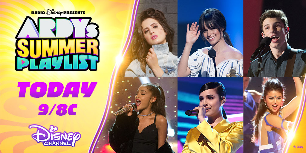 🚨TODAY 🚨 Tune in to Radio Disney Presents #ARDYs Summer Playlist tonight! Relive iconic ARDYs performances and see appearances from your favorite artists. 🎶  @DisneyChannel's Biggest Night of Music:  ➡️ @pixarcoco ➡️ #DisneyChannelSingAlong ➡️ #ARDYs Summer Playlist