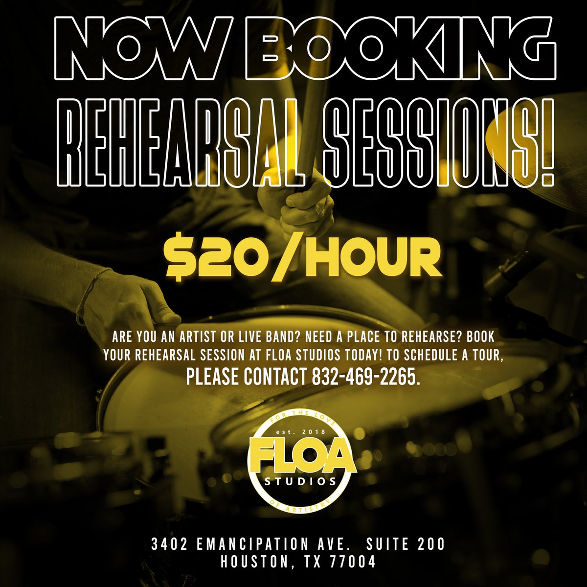 Looking to record or perform a new single, but need to spend some time rehearsing it?   Are you a live band & need some time to rehearse a new song or shed?   Bring your music/instruments & book a rehearsal session with us today    $20/hr    Open daily  pic.twitter.com/NIlwH7wxBx