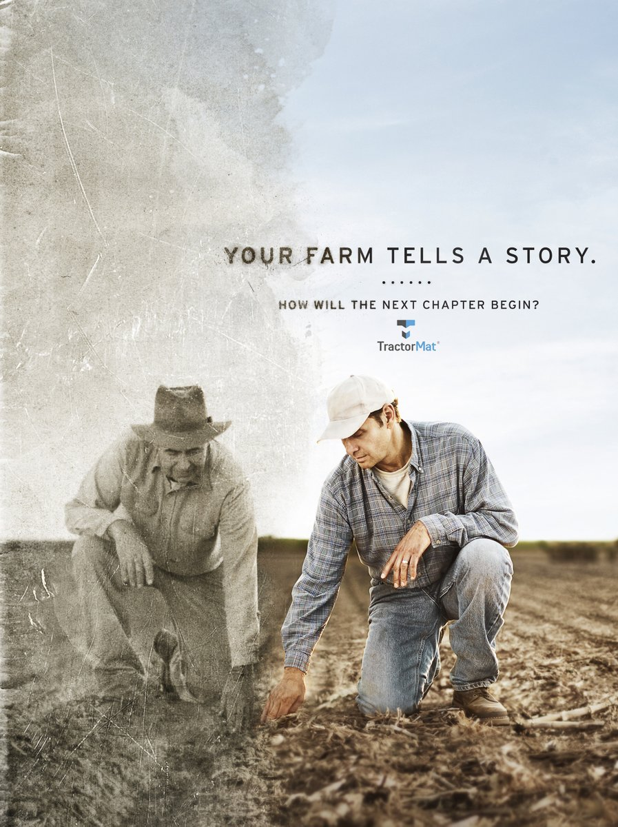 Your farm tells a story, and no matter how your next chapter begins, protect your investments with a TractorMat.  #mat #tractor #farming #agriculture #grain #cattle #ag #livestock #clean #easy #america #Legacy https://t.co/qm4TQq9jkP