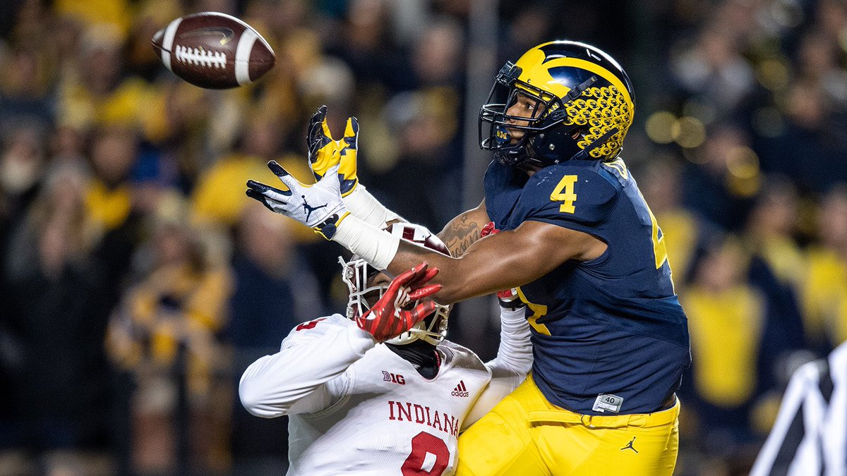 Came as no surprise when NFL combine scout grades were leaked and @UMichFootball WR Nico Collins was one of highest rated seniors because he's been at top of @seniorbowl board for months. Collins ran mid-4.4 at 228 lbs prior to quarantine. Elite traits. 🔥#TheDraftStartsInMOBILE https://t.co/ckIlkv3gCR