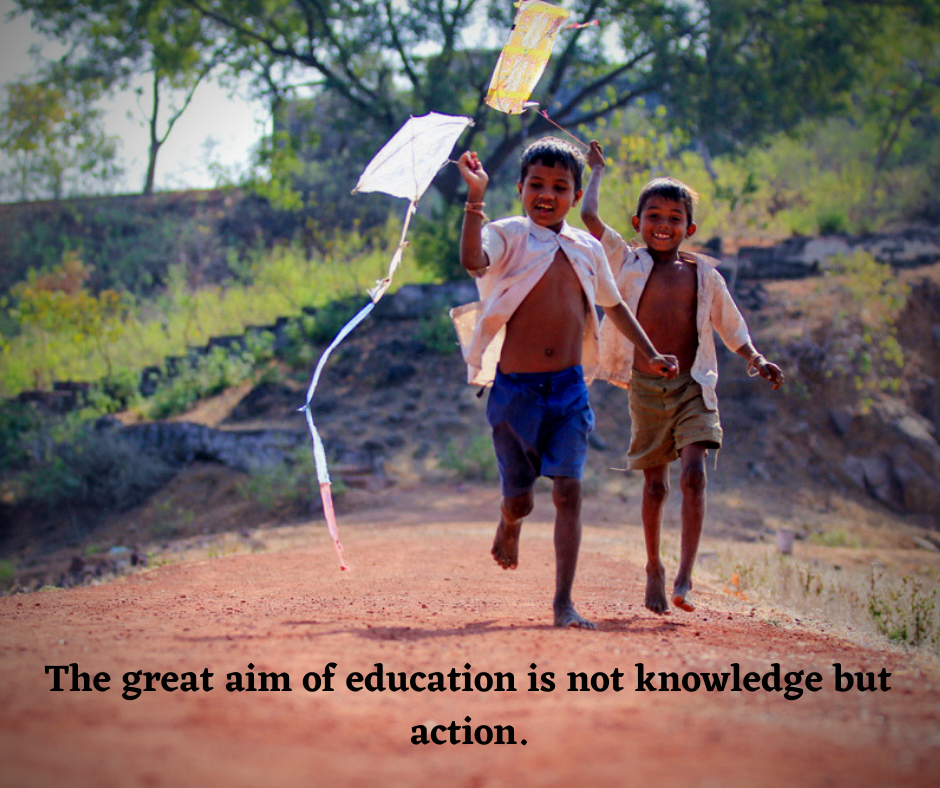 """The great #aim of #education is not knowledge but action."" pic.twitter.com/fy69X8L6S8"