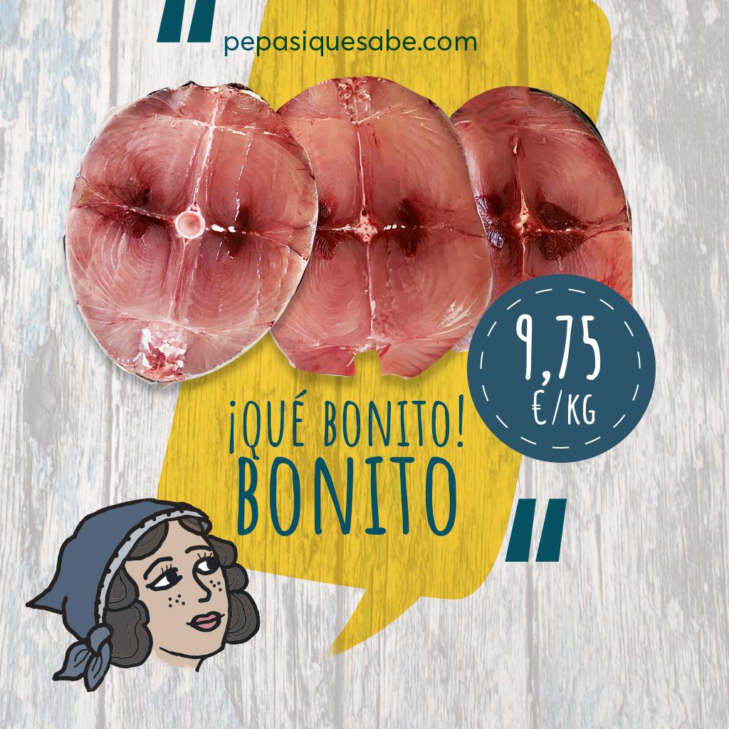 Para bonito, bonito, ¡el de #Burela! 🐟  Crea el plato perfecto para los reencuentros  con nuestros bonitos, bonitos de 8 kg  o elige la opción de 1kg en rodajas 🍽  . . ¡Todos a la mesa, nosotros os lo llevamos a casa! 🚚
