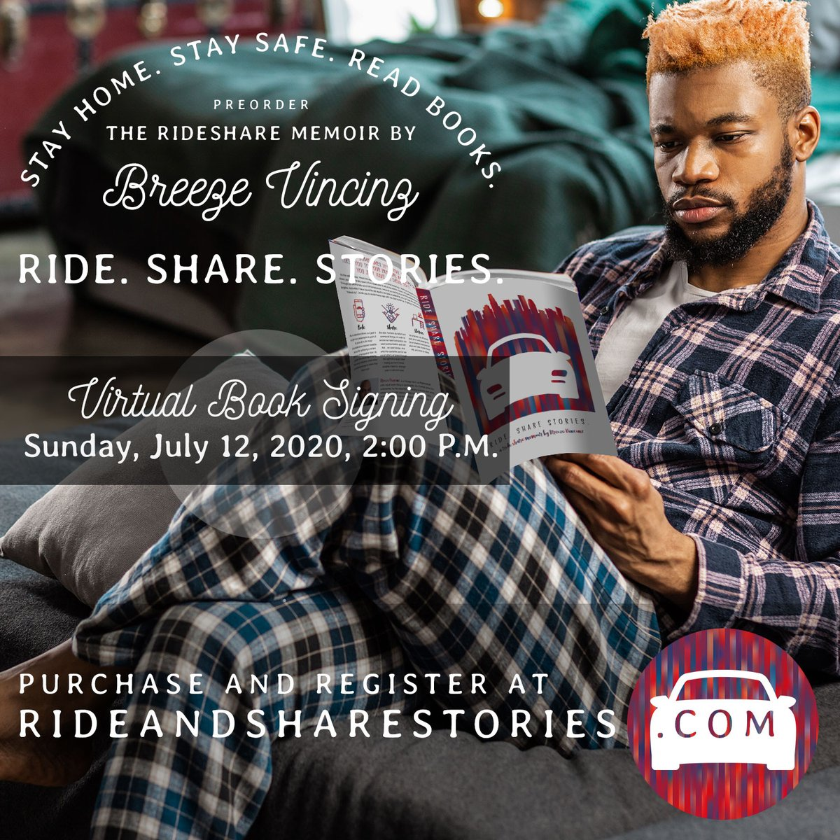 Ride. Share. Stories. Virtual Book Signing This Sunday. Available on Amazon in paperback and Kindle formats! Pick up your copy today! #AloneTogether #uberlife #BlackBooks #uber #readingisfundamental #blackauthors #blackauthorsmatter #BlackbooksMatter - https://mailchi.mp/9f195473656c/ride-share-stories-virtual-book-signing-this-sunday…pic.twitter.com/ojEtHZolhC