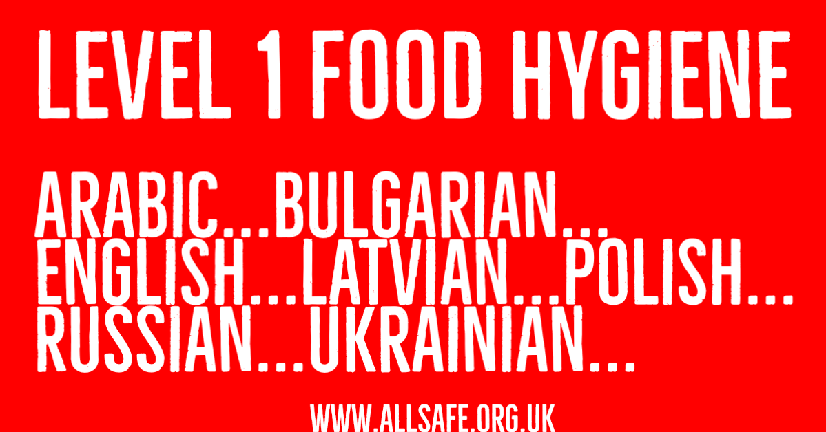 Level 1 Food Hygiene training - the perfect induction training for your food / packaging business. Available in #English #Latvian #Arabic #Bulgarian #Russian & #Ukainian translations. #FoodSafety #FoodHygiene #Food #Training #Caterer #Restaurant https://conta.cc/38zv173pic.twitter.com/fFRUudoLBR