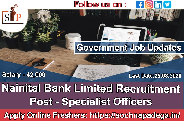 Nainital Bank Limited Recruitment Post - Specialist Officers Salary - Rs 42,020 pm Last Date - 21-07-2020 Apply Here =>https://sochnapadega.in/nainital-bank-limited-recruitment-officers…  #jobseekers #career #Work #StudentLivesMatters #SpeakUpForStudent #Corona #coronavirus #HIRINGNOW #ApplyNow #COVID__19 #Covid_19 #Sppic.twitter.com/IbFEi080cI