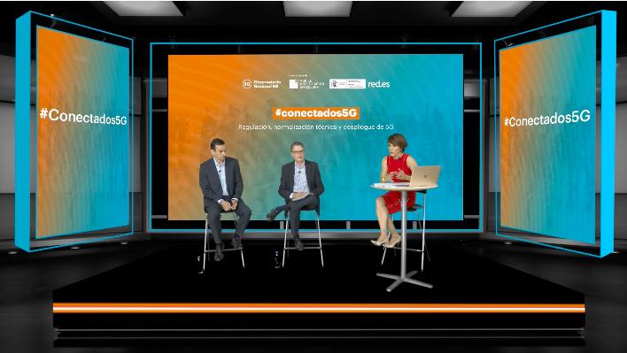 Esta mañana, desde @ON5G_MWC hemos presentado #ON5GRegulación, el 1er monográfico sobre #5G en el evento #Conectados5G, con Roberto Sánchez, Secretario de @SEtelecoGob y @FedericoDRuiz, responsable de Observatorio Nacional 5G  📲 Podéis descargarlo en https://t.co/0AFdAazX02 https://t.co/BL8y8NmaHB