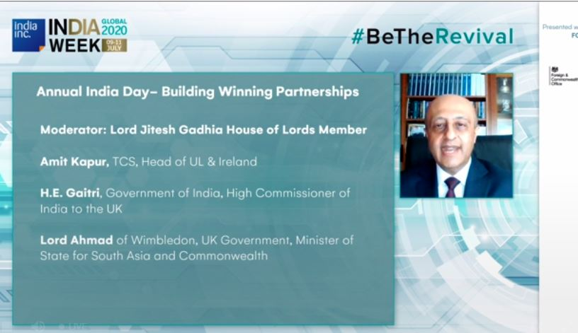 Lord @JiteshGadhia introduces the Annual UK-India Day to deliberate on the strategic UK-India partnership with Lord Tariq Ahmad, UK Foreign Office Minister, Indian High Commissioner to the UK Gaitri Kumar and Amit Kapur of TCS following on from a scene-setting by @DominicRaab https://t.co/3q51cs6lQS