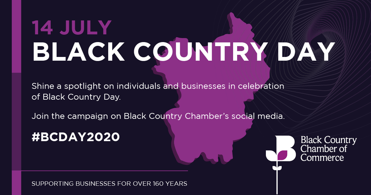 📢Get ready to celebrate Black Country Day (14 July). Our new campaign encourages everyone to celebrate the #BlackCountry, its people, products and businesses and offers a great way to share a collective message. Get involved👉bit.ly/2W6LnyS #BCDAY2020 #BlackCountryDay