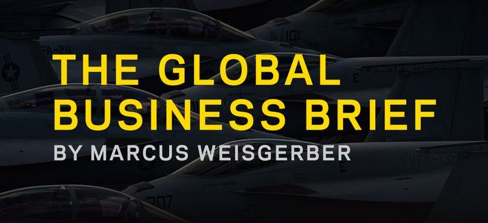 Inside the latest Global Business Brief from @MarcusReports: • Defense CEOs push for COVID aid • Pentagon not investing enough in AI • More trade shows go virtual and more. https://t.co/rRHcB6AjKj https://t.co/kV9QobwrG8