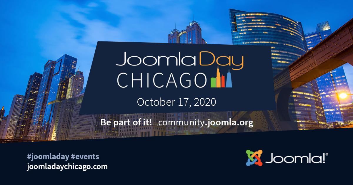 JoomlaDay Chicago 2020 Event Date: 17 October 2020  https:// community.joomla.org/events/joomlad ays/4008-joomladay-chicago-2020.html  … <br>http://pic.twitter.com/kvrBvQgE6p