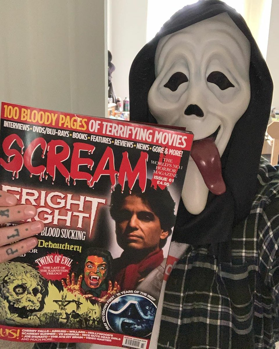 Subscribe to SCREAM MAGAZINE... 100 pages in full BLOODY colour delivered to your door anywhere in the world... Jack-o-lantern #HorrorMovies #HalloweenKills #HalloweenEnds #MichaelMyers #Ghostface #Scream  https://t.co/OwiU7stNex https://t.co/kXbskIY7NC