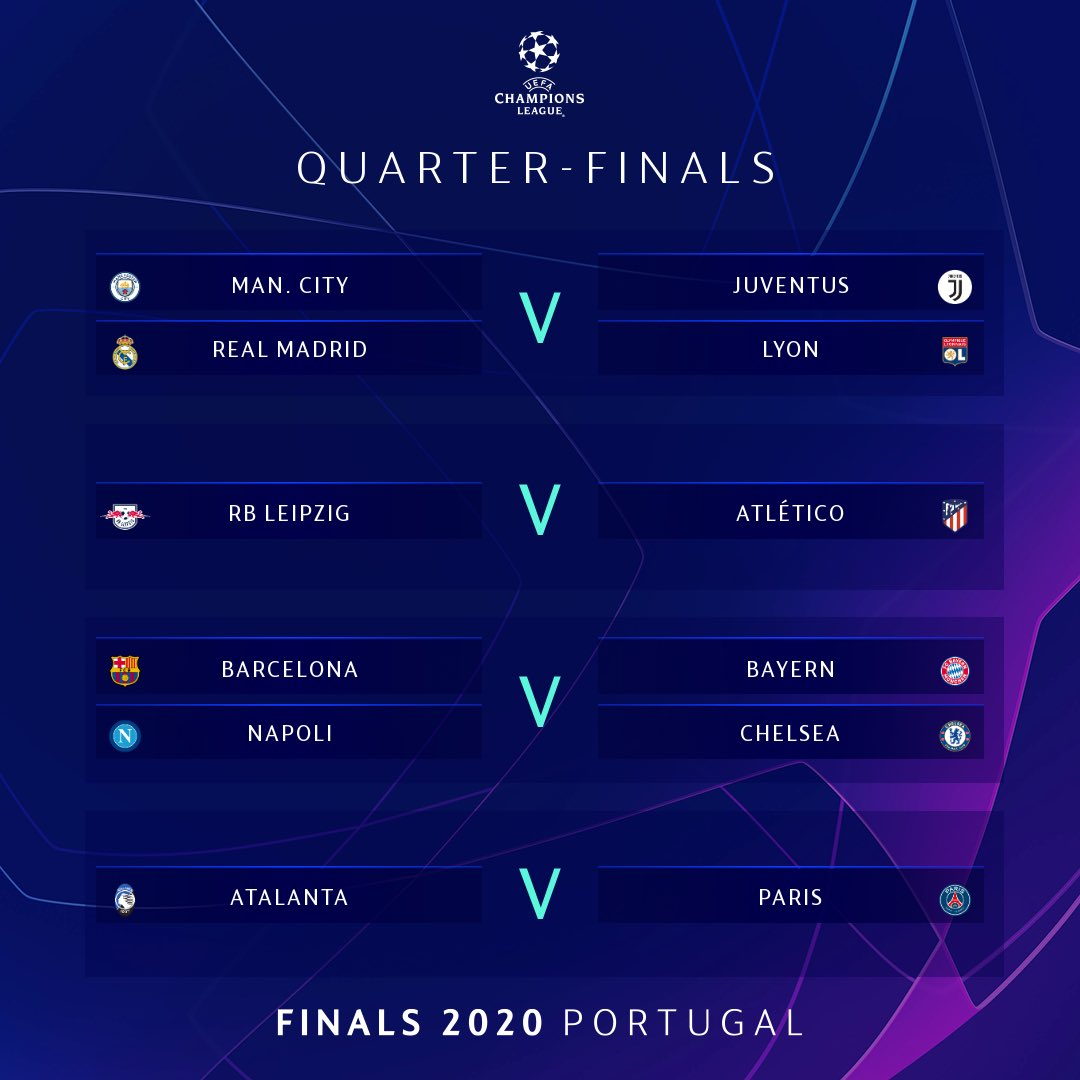 #UCLdraw is complete. #championsleague will take place in August in Portugal. #soccer pic.twitter.com/V4sN8hsSZI