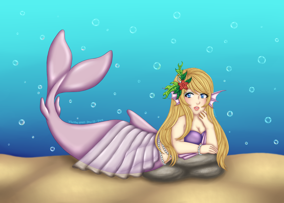 MerMay 2020 - Day 11 - Yune --- Digital #commission for @TheSaphaia. He asked me to draw his half-siren model oc Yune posing for the camera, underwater. --- #mermay #mermay2020 #day11 #artistsontwitterpic.twitter.com/hfL2vM4gdO