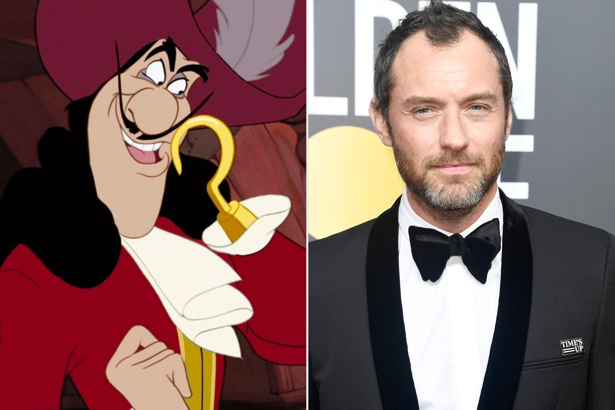 Reports are circulating that Disney have cast Jude Law as Captain Hook in their upcoming live action Peter Pan movie.  Do you think he'll make a good Hook?  #judelaw #captainhook #disney #peterpan #comingsoon https://t.co/ehUmbODLll