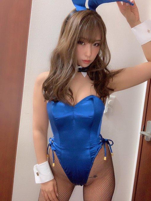 バニーガールの渋谷さんのTwitter自撮りエロ画像59