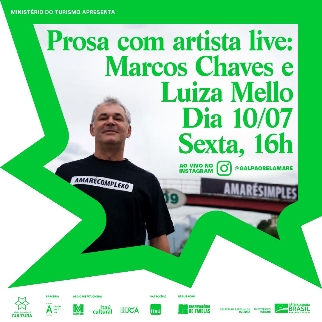 HOJE, às 16h tem Prosa com Artista no IG do Galpão Bela Maré e o convidado é @marcoschaves! O papo será mediado pela queridona @luizamello da @automaticaprodutora.  Imperdível!  Live no IG https://www.instagram.com/galpaobelamare/  #NosEixos #ArteETerritório #Travessias #ArteContemporânea pic.twitter.com/yW6Vryuo29