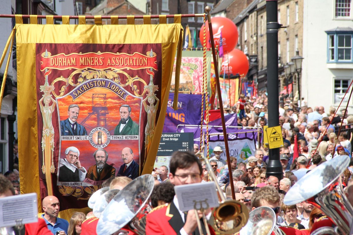 Sadly we cant come together to enjoy the Big Meeting tomorrow. But the Durham Miners' Gala will be online this year. Join here to enjoy the celebration of solidarity, community and culture anywhere in the country: facebook.com/events/2636910…