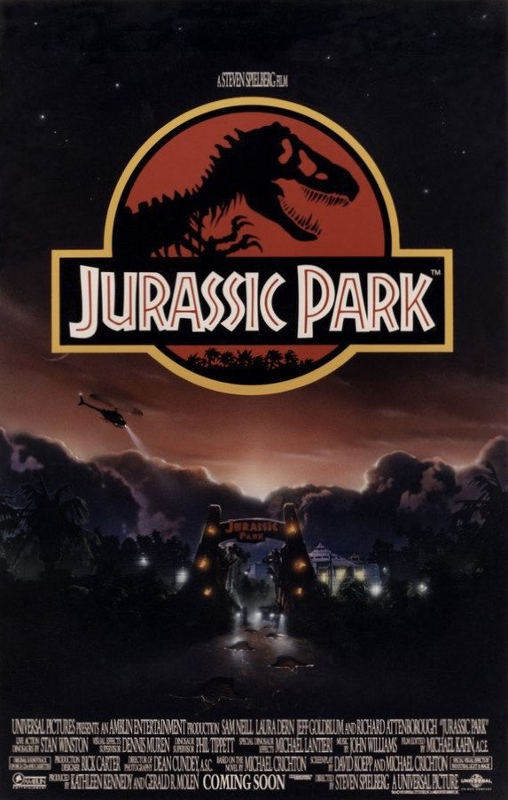 Jurassic Park: Absolute classic. Jeff Goldblum is fantastic. Sam Neill shows superb character growth throughout this film. Amazing special effects for the time period. The kids are fine just a tad annoying. I was sad to see Arnold die. Easily the best movie of the series. 9.4/10 https://t.co/Gbdj60LRdg