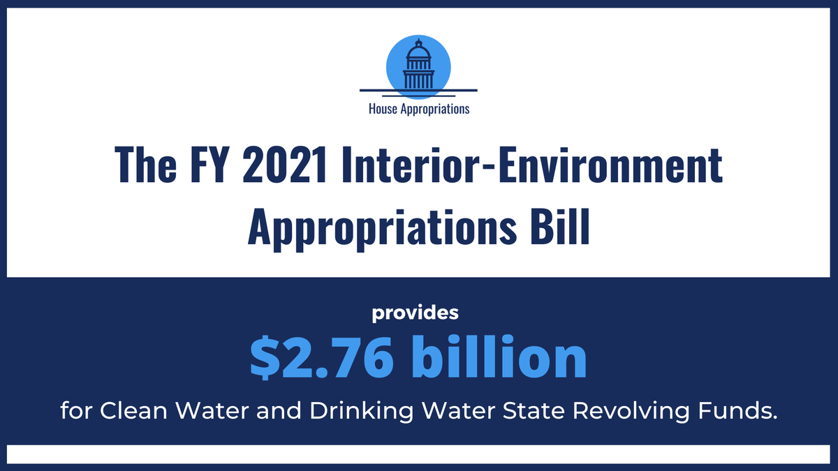 This bill also prioritizes the health & safety of our communities by increasing funding for clean air & water programs. Especially during this global respiratory pandemic, everyone deserves clean air to breathe & safe water to drink. https://t.co/0AHF5GGLHT