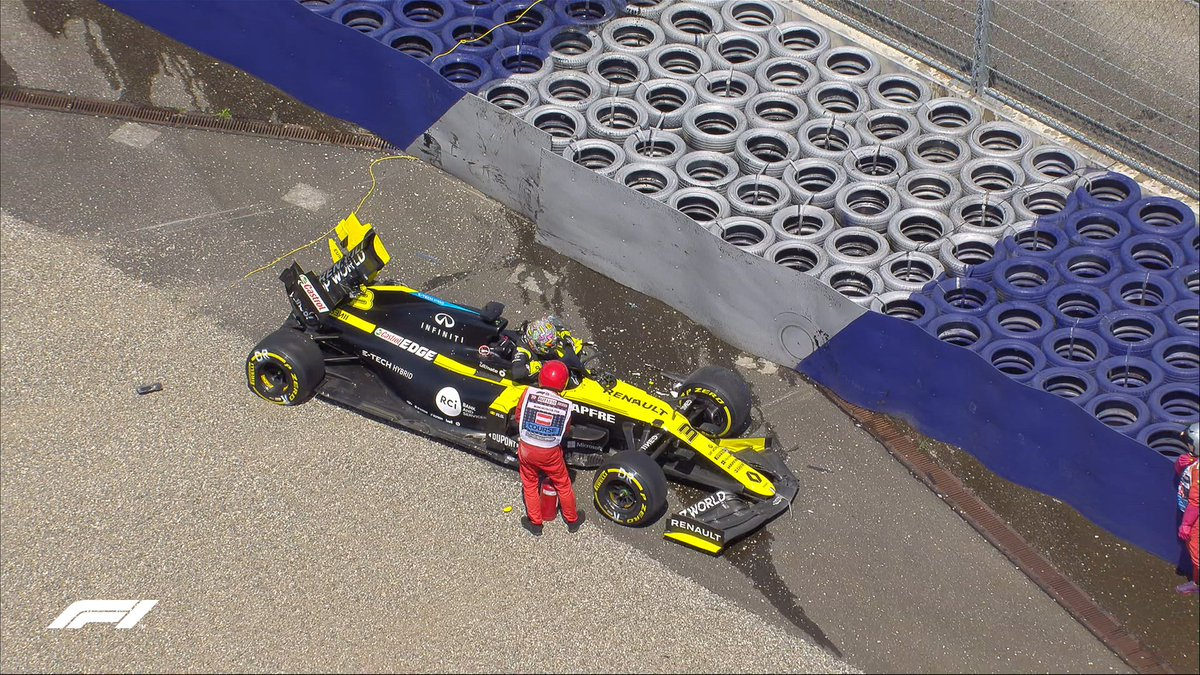 Daniel Ricciardo is out of his car He is being transported back to the pit lane to be checked by doctors #AustrianGP 🇦🇹 #F1