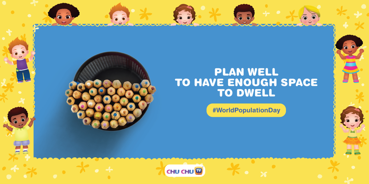 Let's include Family Planning in our lives to secure a plentiful and bright future.  #ChuChuTV #NurseryRhymes #WorldPopulationDay #Dadlife #Motherhood #Moms #PlayTime #PreciousMoments #Beautiful #Parenting #Momlife #Feelingspic.twitter.com/ctYTCQendp