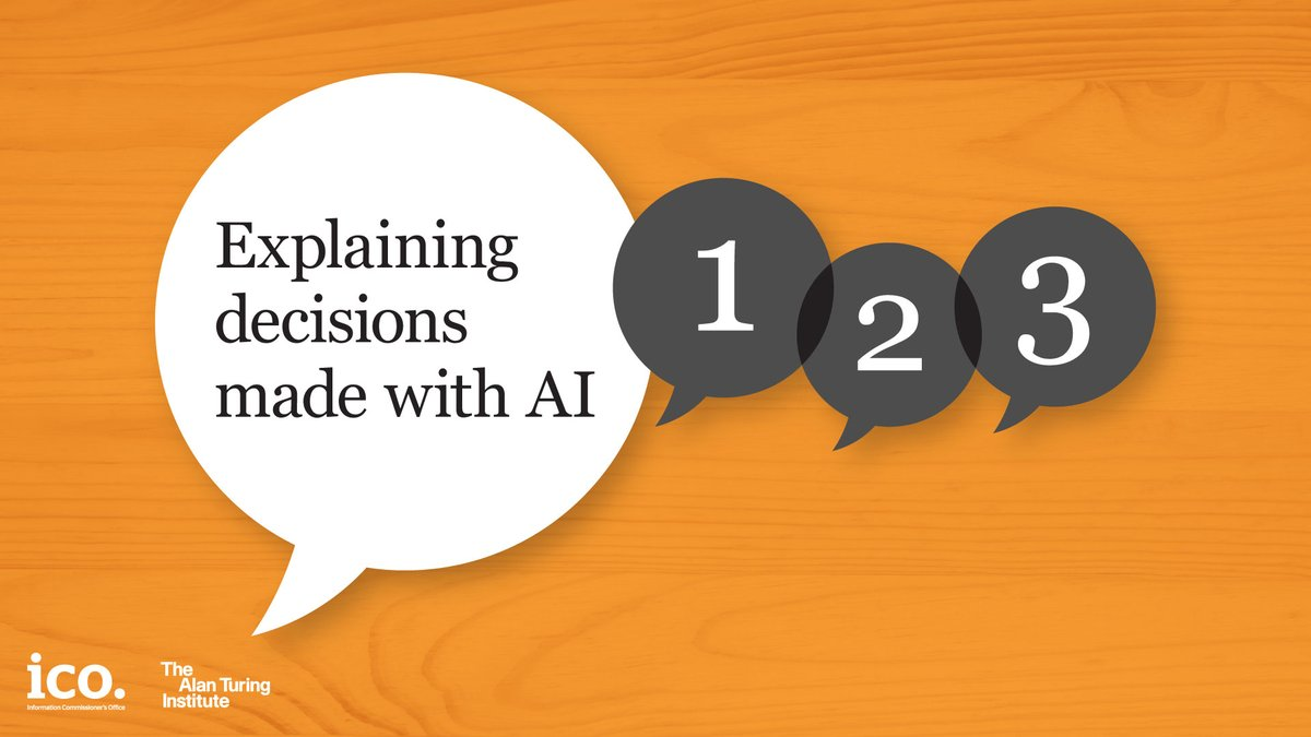 If you work in a technical team explaining AI-assisted decisions to individuals, Part 2 of our co-badged 'Explaining decisions made with AI' guidance with @turinginst would be the most helpful – read it here: ow.ly/HmHR50ArzK6