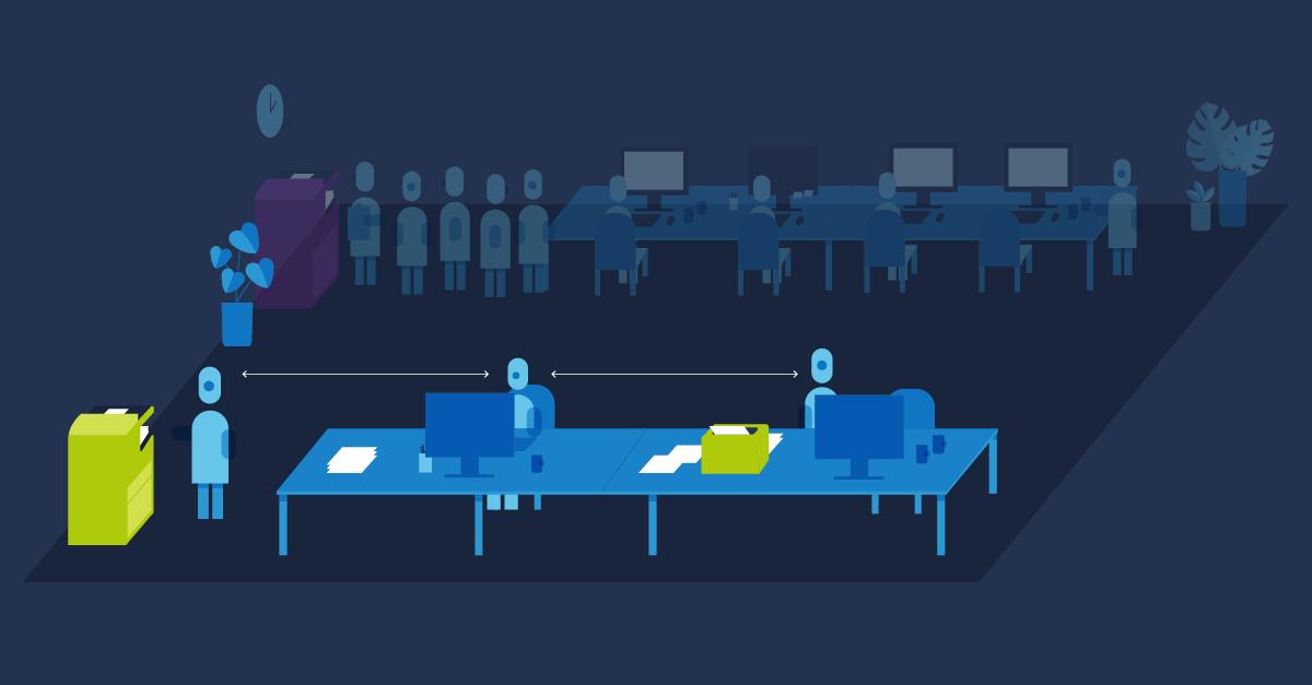 Ridurre l'attesa alla #stampante in ufficio sarà fondamentale durante il periodo di #distanziamento sociale. Passare da un modello di stampante centralizzato ad un assetto #distribuito aiuterà a svolgere le attività lavorative in #sicurezza. #EpsonBIJ #workplacesafety #Epson https://t.co/AHUmtnG3Un