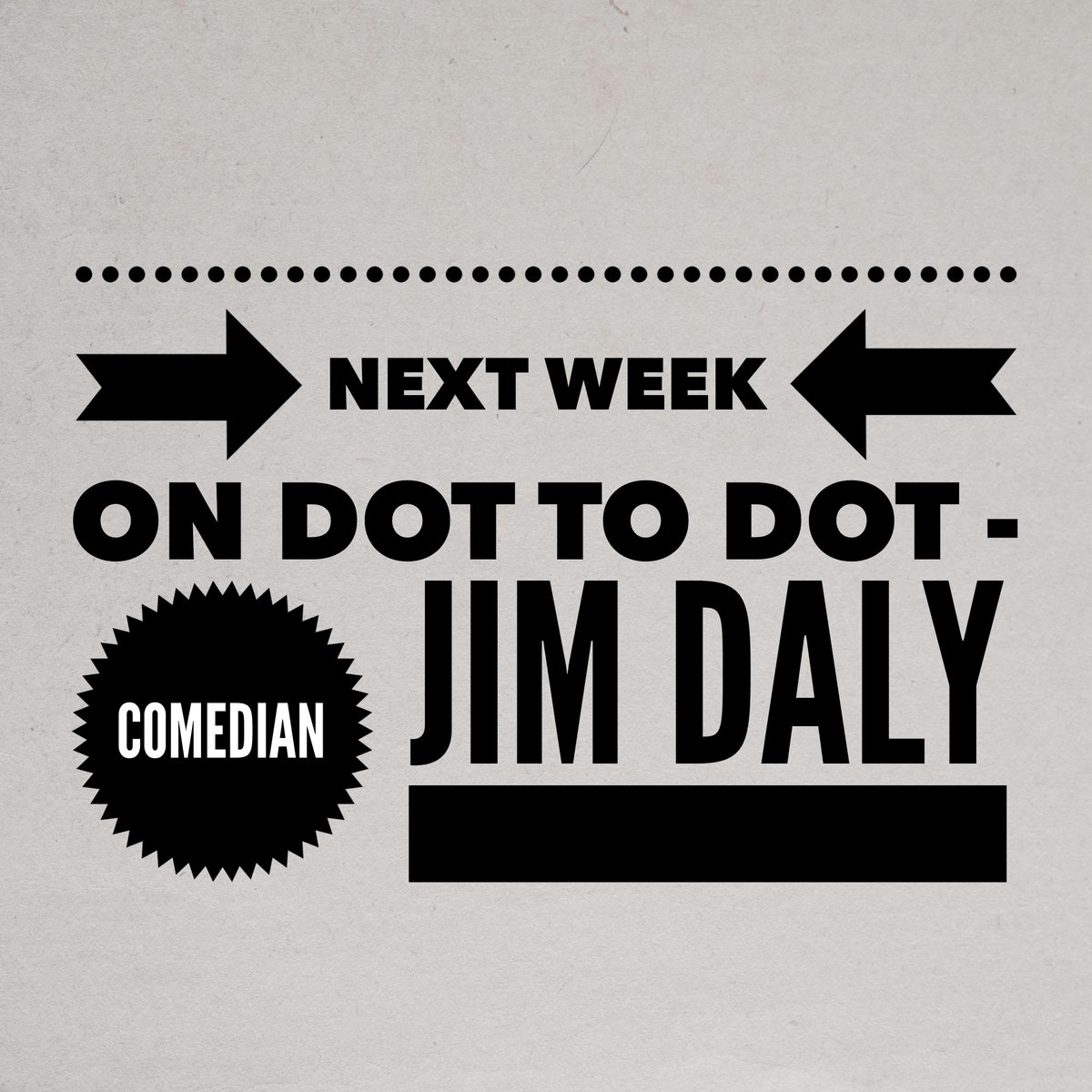 Next week on the podcast I'm speaking to none other than the fab tastic @jimdalycomedy #podcast