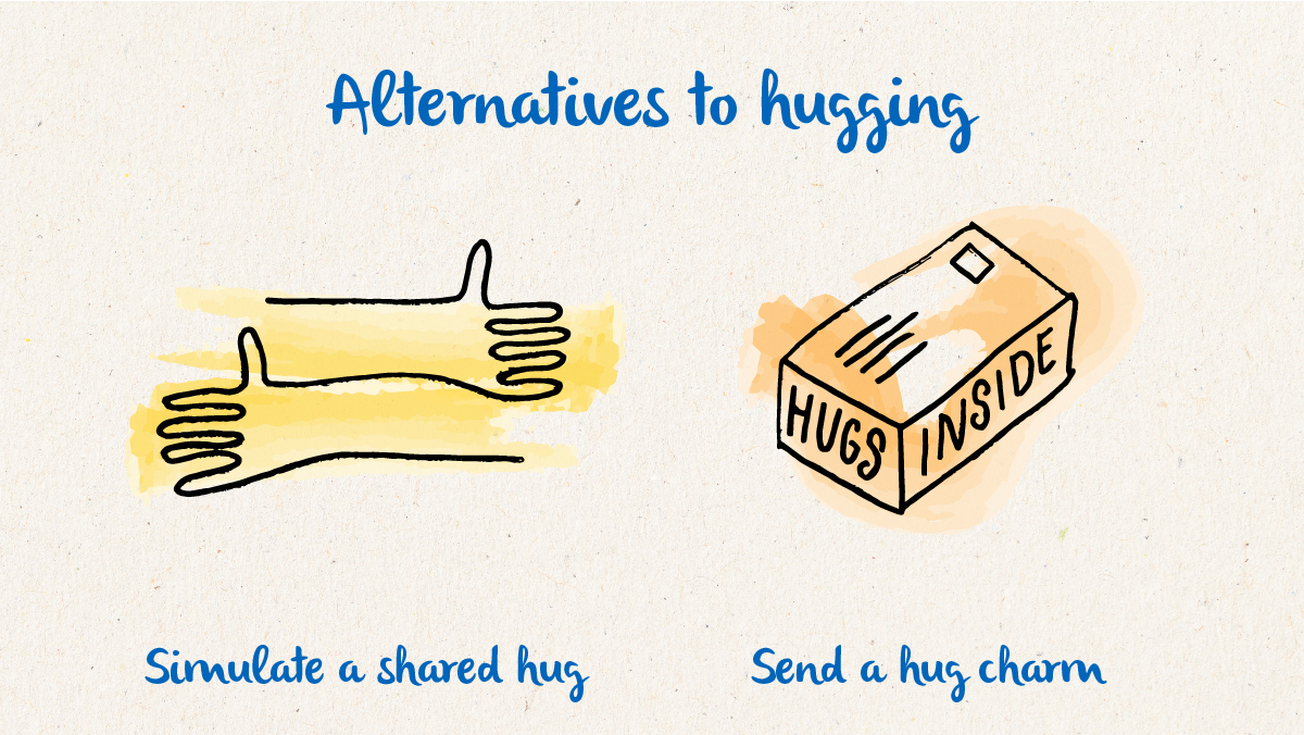 Missing hugs from loved ones? Find out more about some alternatives: bit.ly/2Zhba9G And let us know your ideas too.
