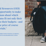 Image for the Tweet beginning: OER are good for students'