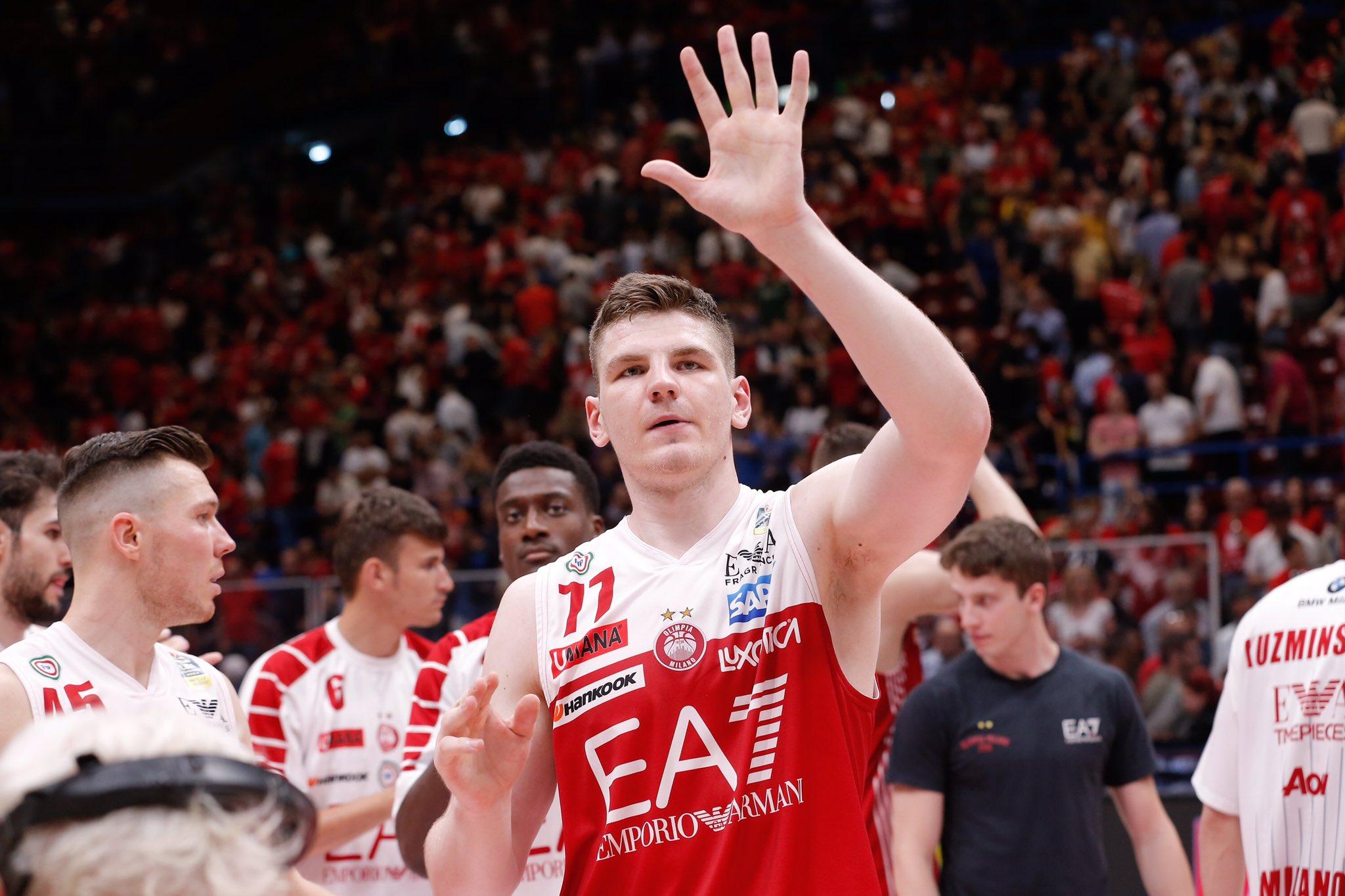 Arturas Gudaitis lascia l'Olimpia Milano, ufficiale il trasferimento allo Zenit San Pietroburgo