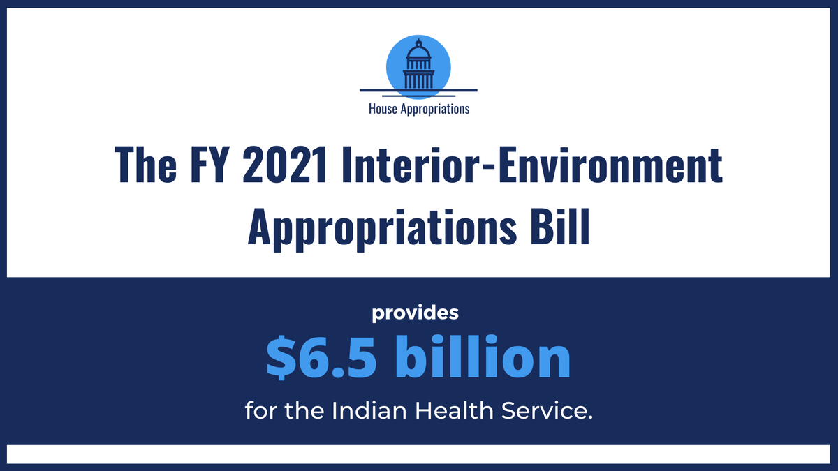 While there is much more work to do, this bill is another step towards upholding the federal government's trust & treaty responsibilities to Native American communities, with increased funding for BIA, BIE, & IHS. https://t.co/9tRhzzj2Bo