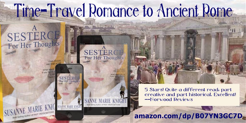 http://amazon.com/dp/B07YN3GC7D  A SESTERCE FOR HER THOUGHTS: 5 Stars! An #ancient coin transports Olivia 2000 years back in time to the Roman invasion of #Britannia and into the arms of a hunky legion commander!  #romance #timetravel #writingcommunity #amreading #Kindle #smashwordspic.twitter.com/ZkgZWUH1ol