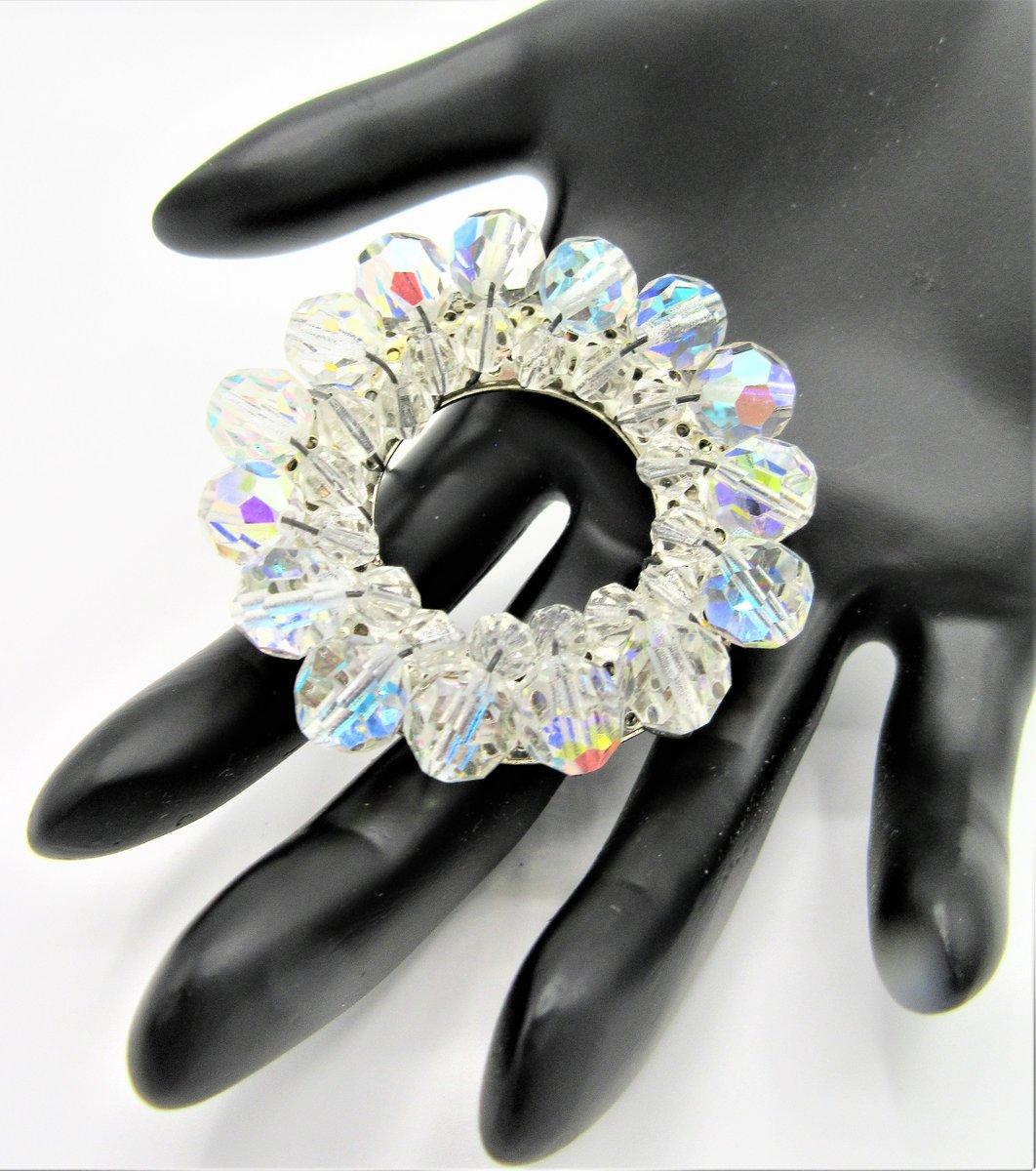 Excited to share the latest addition to my #etsy shop: Crystal Circle Brooch, AB Crystal Beads, Unsigned Beauty, Circle Glass Pin https://etsy.me/30b89XJ #birthday #no #women #midcentury #clear #silver #glass #vintagebrooch #vintagobsessionspic.twitter.com/EwEvJRoNwH