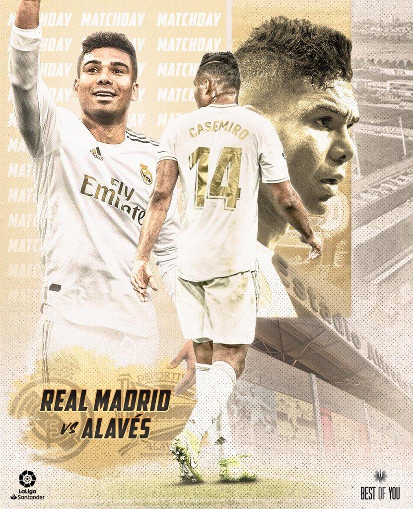 #HALAMADRID @realmadrid 🆚 @Alaves 🏆 @LaLigaBRA 🏟 Estadio Alfredo Di Stéfano 🇧🇷 17:00 h 🇪🇸 22:00 h #RMLiga #RealMadrid #RealMadridAlavés