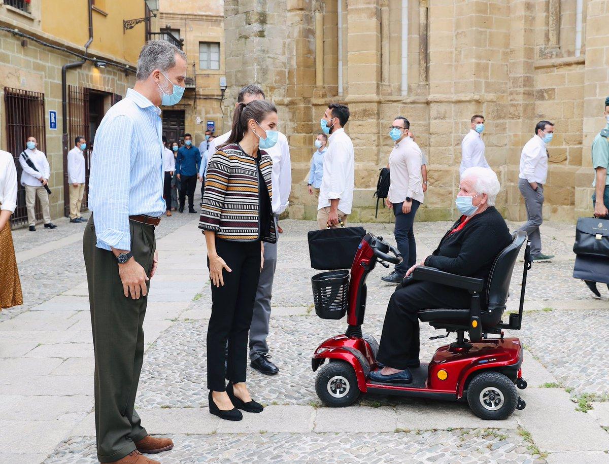 Fin de la visita de los Reyes a La Rioja. Santo Domingo de la Calzada. casareal.es/ES/Actividades…