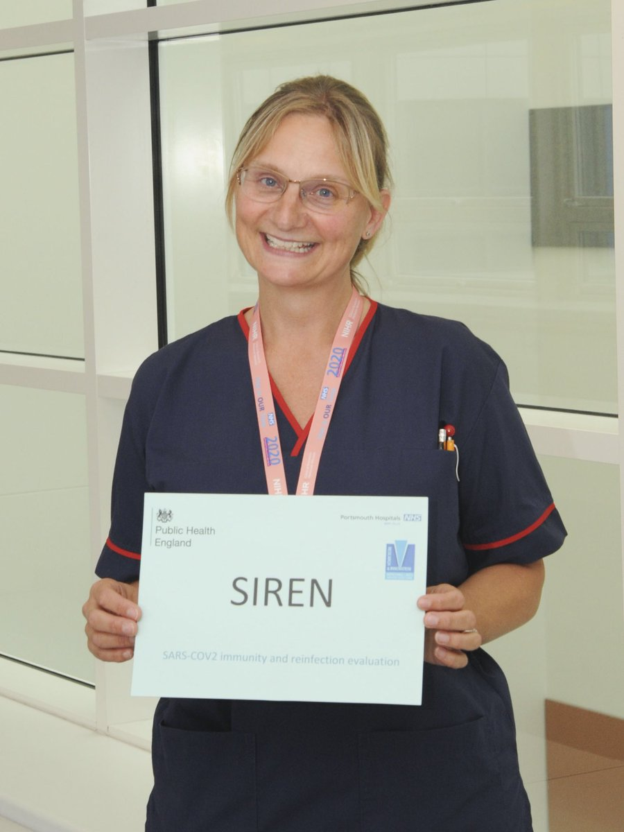 We are very excited to open and recruit the first participants to the SIREN study. SIREN will recruit healthcare workers and study their immune response to COVID-19 to determine if prior infection has a protective effect against re-infection. #proudtobePHT https://t.co/3aERzsoiBp