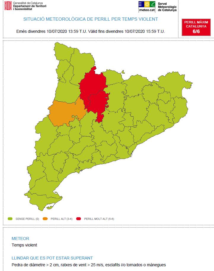 S'observa un nucli de tempesta a cavall de les comarques del Solsonès i de l'Alt Urgell que durant les dues pròximes hores podria produir fenòmens de temps violent. https://t.co/qRkquMGpty https://t.co/By3bAnYCGf