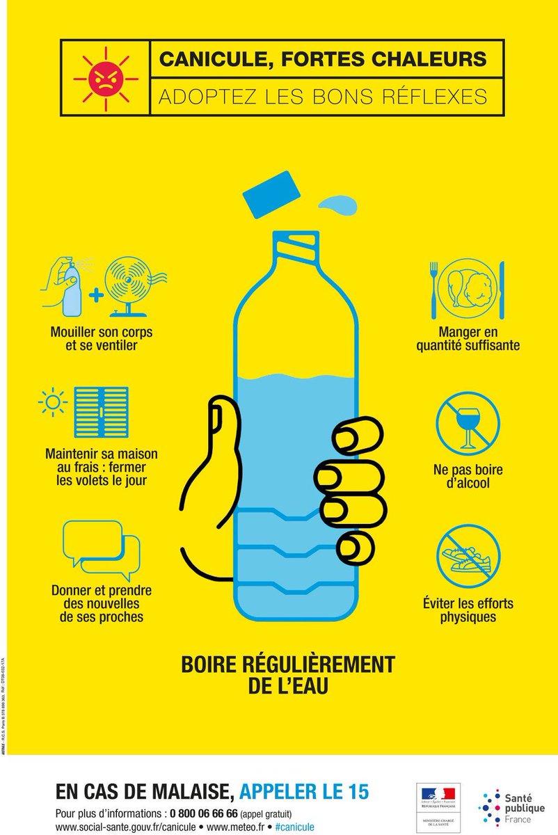 Petit rappel bien utile en ces fortes chaleurs ! #canicule #ilfaitchaud #Lormont #gironde #prévention https://t.co/bjZnak5NbL