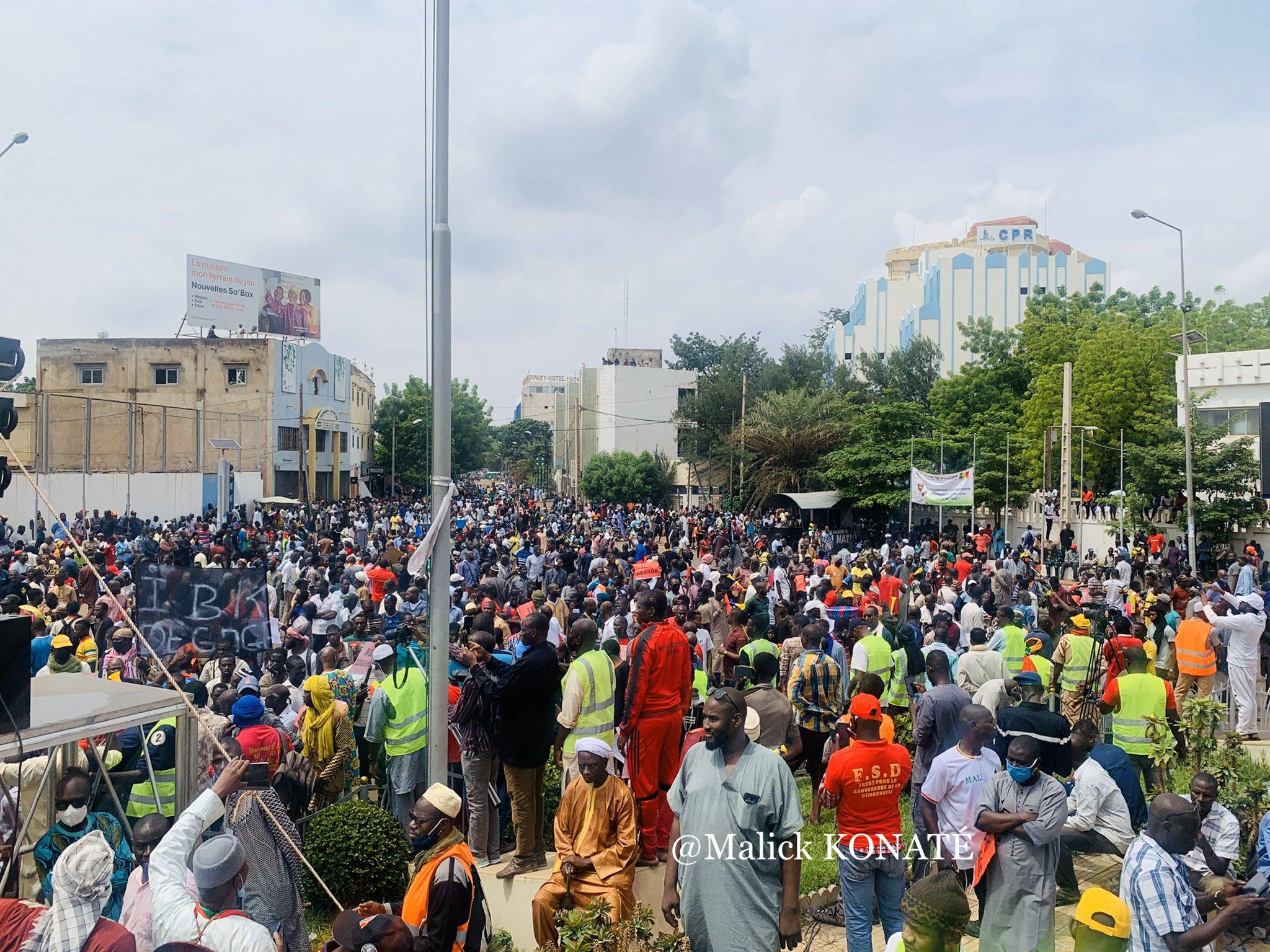 Lors de la manifestation à Bamako, le 10 Juillet 2020, les manifestants veulent le départ du président Ibrahim Boubacar Keïta (IBK) et son régime