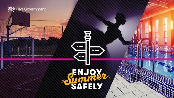 More activities will soon resume so you can #EnjoySummerSafely. Read the latest guidance on: 🏏Grassroots outdoor team sport: gov.uk/government/new… 🎭 Outdoor performances: gov.uk/government/new… 🏊🏾♀️Swimming pools, gyms and leisure centres: gov.uk/government/new…