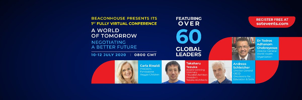 """انطلق اليوم مؤتمر عالمي بعنوان """" مدرسة المستقبل SCHOOL OF TOMORROW  """"ويستمر المؤتمر لمدة ثلاثة أيام ويناقش المؤتمر مجموعة من القضايا المتعلقة #التعليم ومنها قضايا تتعلق #التعليم_العالي ومن أهمها #نماذج_التعلم الجديدة. التسجيل مجاناً. https://t.co/a3NQXd0SFy #مناهج #تطوير_نعليم https://t.co/bdtDAqrnY1"""