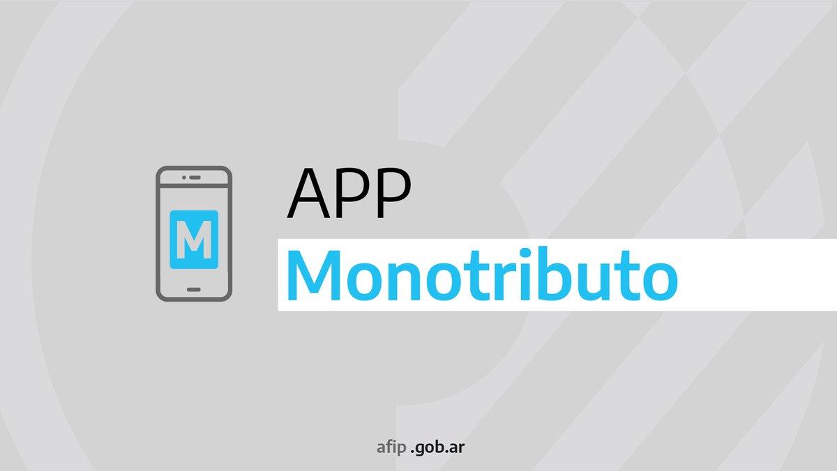 Desde la aplicación móvil de #Monotributo podés inscribirte, verificar el estado de tu cuenta y recategorizarte. Descargala en https://t.co/jjla5M4cCv https://t.co/XuaXE4rdV3